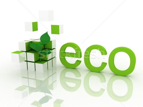 экологический 3d визуализации дерево дизайна технологий жизни Сток-фото © blotty