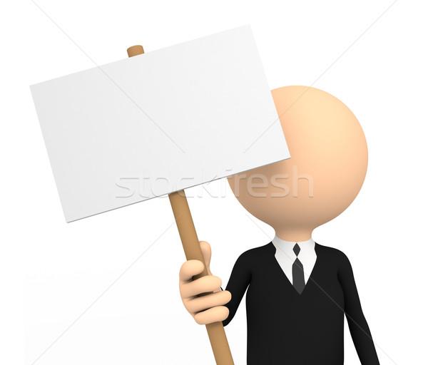 3d persoon banner computer gegenereerde afbeelding kantoor Stockfoto © blotty