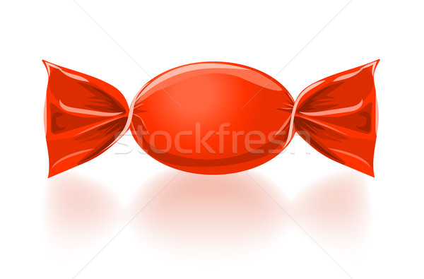 Red sweet candy vector illustration Stock photo © blotty