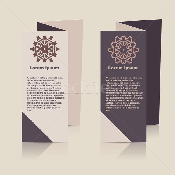Vector brochure lay-out ontwerpsjabloon eps10 illustratie Stockfoto © blotty