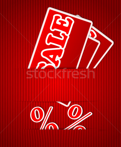 Sale or discount tags for price list Stock photo © blotty