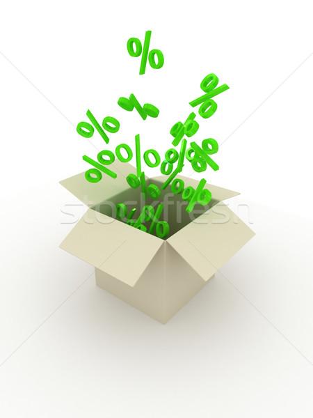 ボックス 白 3dのレンダリング ビジネス ショッピング パッケージ ストックフォト © blotty