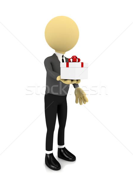 3 ª persona presente blanco prestados imagen negocios Foto stock © blotty