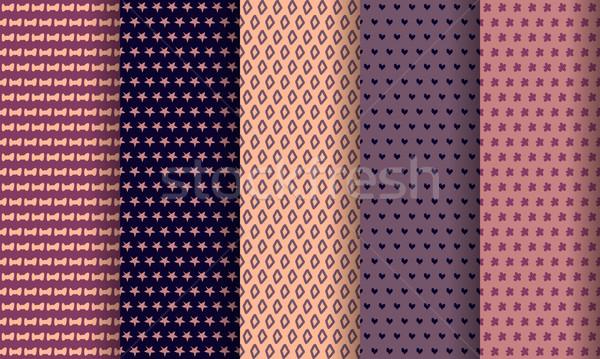 ベクトル セット eps 10 紙 ストックフォト © blotty