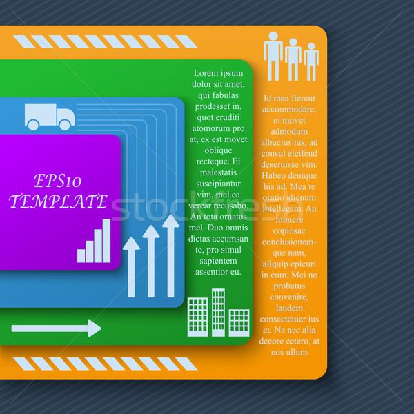 Teamwerk sociale diagram presentatie lay-out Stockfoto © blotty