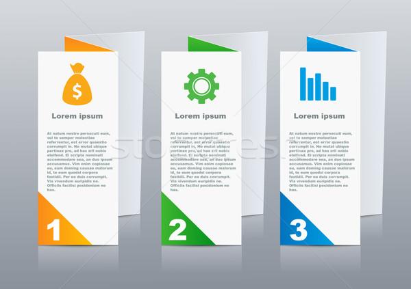Brochures design for social infographic, diagram, presentation Stock photo © blotty