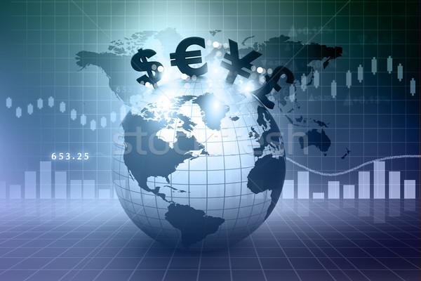 Waluta symbolika ziemi finansowych działalności ceny Zdjęcia stock © bluebay