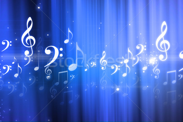 Digital illustration of music background	 Stock photo © bluebay