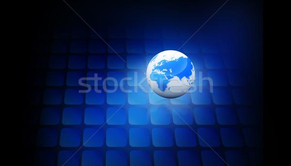 Digitale wereldbol internet zon abstract licht Stockfoto © bluebay