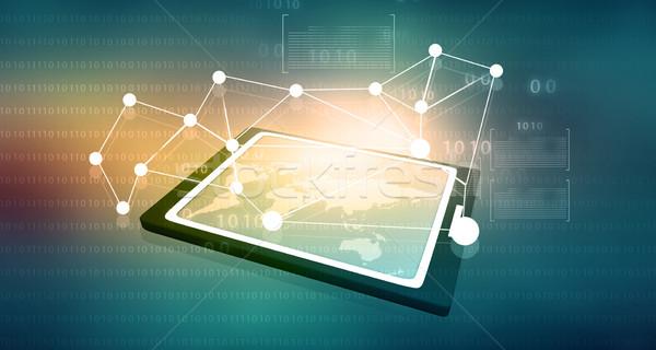 Business network proces schemat komputera Internetu Zdjęcia stock © bluebay