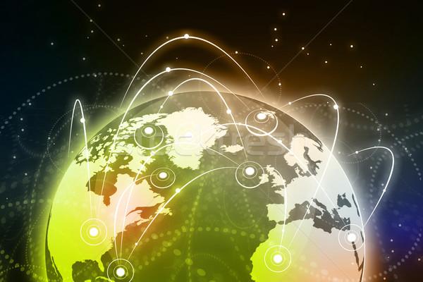 Global de negócios rede globalização internet mundo verde Foto stock © bluebay