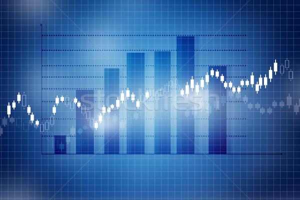 Giełdzie wykres wykres działalności ceny tle Zdjęcia stock © bluebay