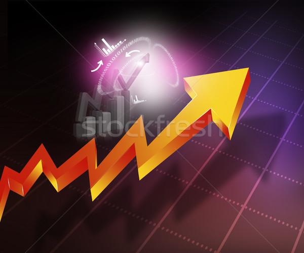Działalności arrow wykres streszczenie biuro tle Zdjęcia stock © bluebay