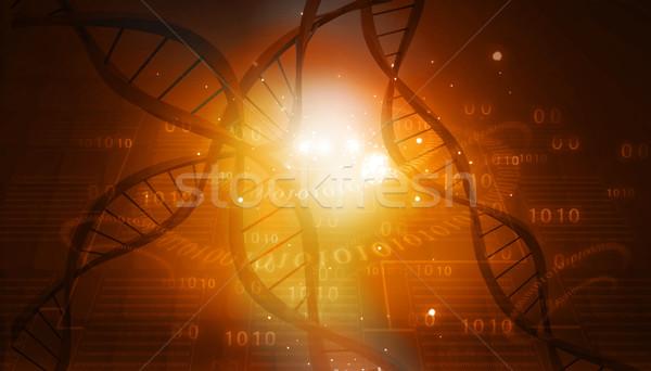 DNA struktury streszczenie cyfrowe muzyka nauki Zdjęcia stock © bluebay