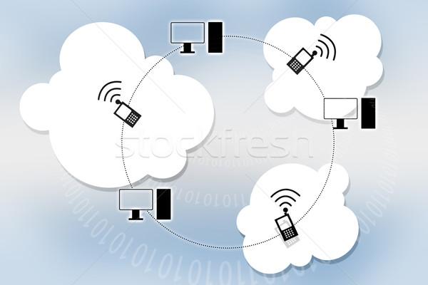 Elektronicznej Chmura serwera komputera Zdjęcia stock © bluebay