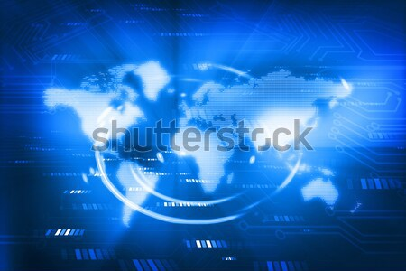Atom on abstract tech background	 Stock photo © bluebay
