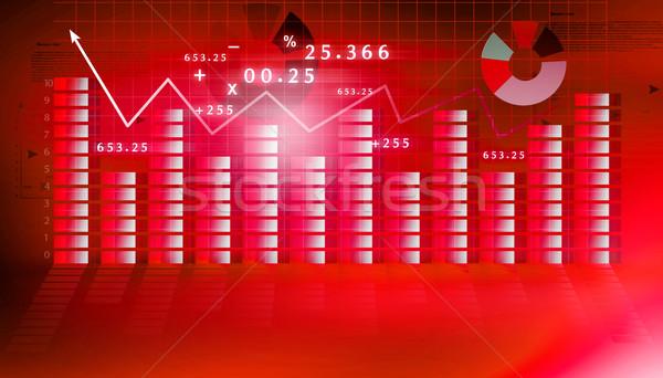 финансовых графа синий Финансы успех обои Сток-фото © bluebay