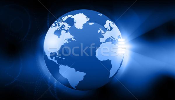 Dijital toprak iş Internet dünya harita Stok fotoğraf © bluebay