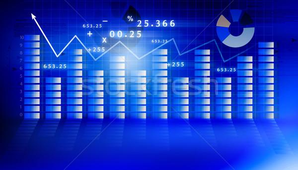 Finansowych wykres niebieski finansów sukces tapety Zdjęcia stock © bluebay