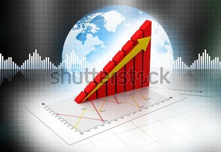 Działalności wykresy wykresy papieru pracy banku Zdjęcia stock © bluebay