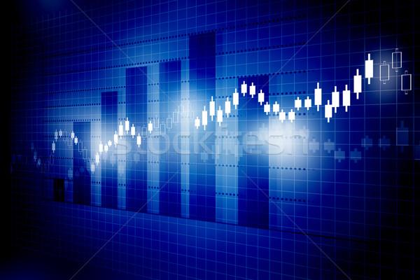 Фондовый рынок диаграммы графа бизнеса деньги фон Сток-фото © bluebay