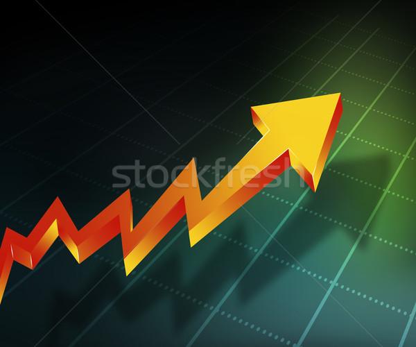 бизнеса стрелка графа аннотация служба фон Сток-фото © bluebay