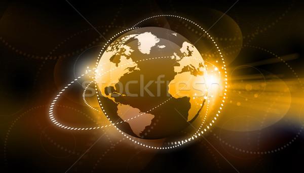 Global business sieci globalizacja Internetu świecie świat Zdjęcia stock © bluebay