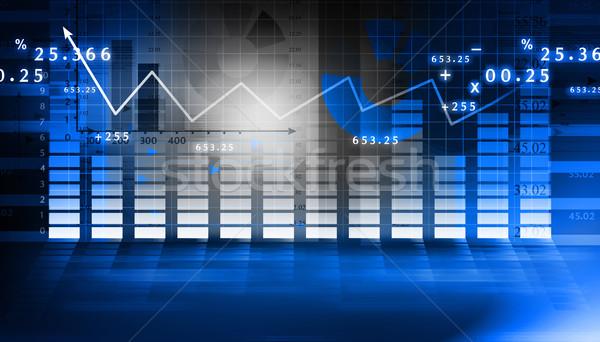 Finansal grafik mavi finanse başarı duvar kağıdı Stok fotoğraf © bluebay