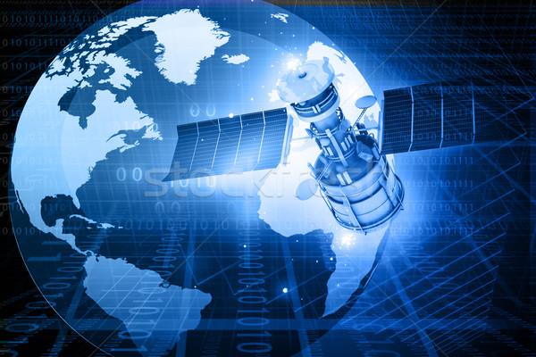 Satellite comunicazioni abstract mondo sfondo spazio Foto d'archivio © bluebay