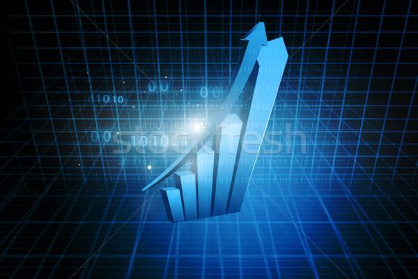 Wykres biznesowych niebieski finansów sukces obrotu wykres Zdjęcia stock © bluebay
