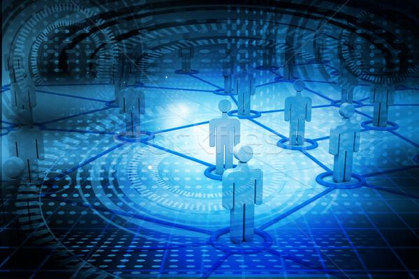 Działalności sieci ludzi sieci świat tle Zdjęcia stock © bluebay