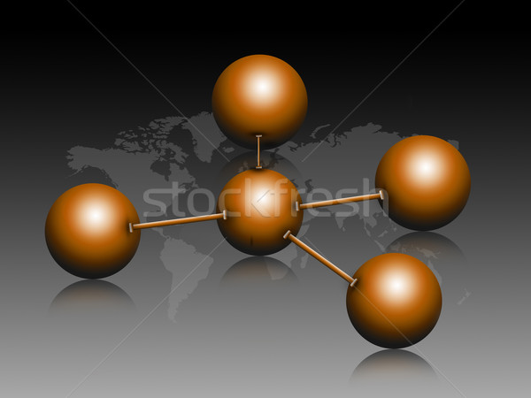 świat streszczenie technologii nauki kolor chemia Zdjęcia stock © bluebay