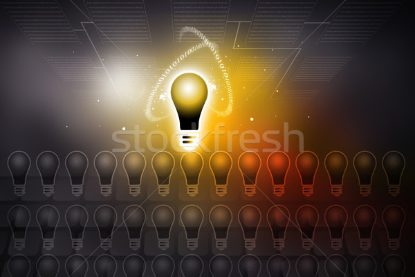 glowing bulb on abstract background  uniqueness concept	 Stock photo © bluebay