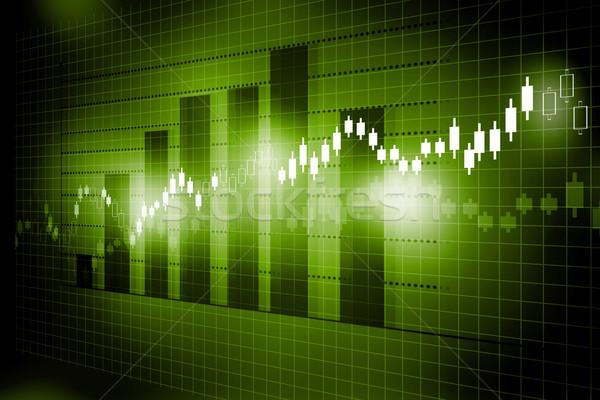 Tőzsde diagram grafikon üzlet pénz háttér Stock fotó © bluebay