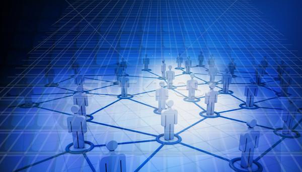 Zdjęcia stock: Business · network · niebieski · streszczenie · projektu · tle
