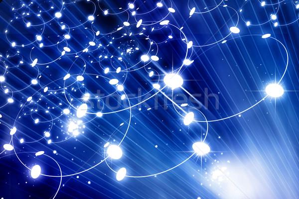 Dijital ağ Internet mavi iletişim model Stok fotoğraf © bluebay