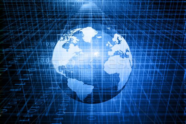 Cyfrowe świecie Internetu Pokaż streszczenie świetle Zdjęcia stock © bluebay