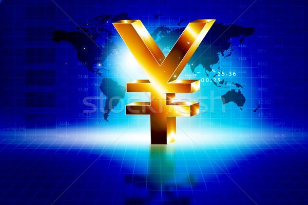 3D złoty jen podpisania świat ceny Zdjęcia stock © bluebay