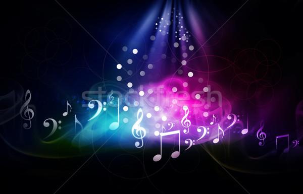 Muzyki tęczy tapety Uwaga graficzne Zdjęcia stock © bluebay