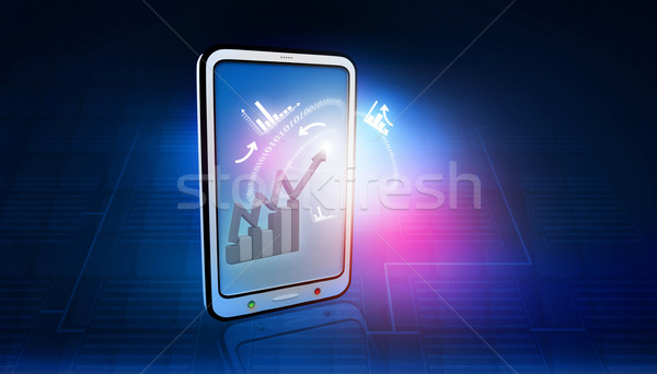 Сток-фото: бизнеса · иконки · интернет · ноутбука · фон