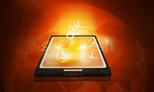 бизнеса иконки интернет фон связи Сток-фото © bluebay