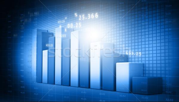 Działalności wykresy streszczenie świat finansów rynku Zdjęcia stock © bluebay