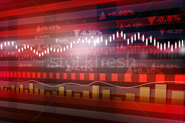 World economics graph. Stock market chart. Finance concept	 Stock photo © bluebay