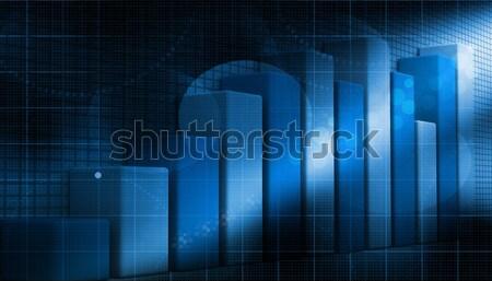 3D działalności wzrostu wykres streszczenie tle Zdjęcia stock © bluebay