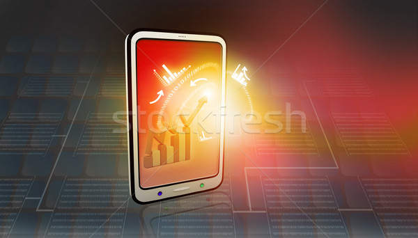 Działalności ikona Internetu laptop tle Zdjęcia stock © bluebay