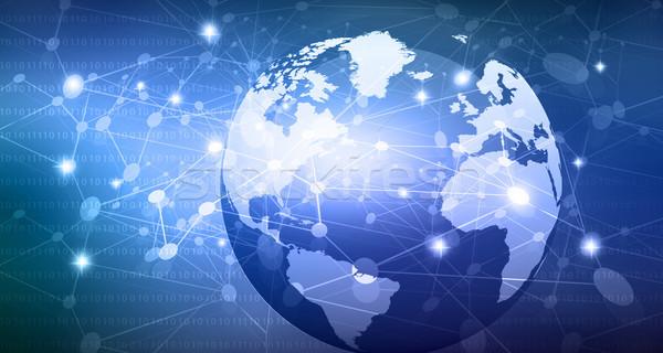 глобальный сети компьютер аннотация свет Мир Сток-фото © bluebay