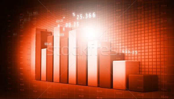 бизнеса аннотация Мир Финансы рынке Сток-фото © bluebay