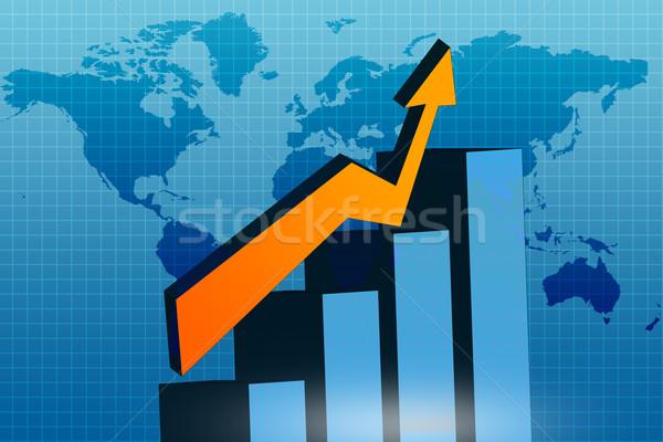 Wykres biznesowych streszczenie podpisania finansów obrotu danych Zdjęcia stock © bluebay