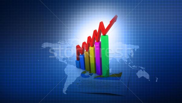 Działalności wykresy Pokaż streszczenie świat finansów Zdjęcia stock © bluebay