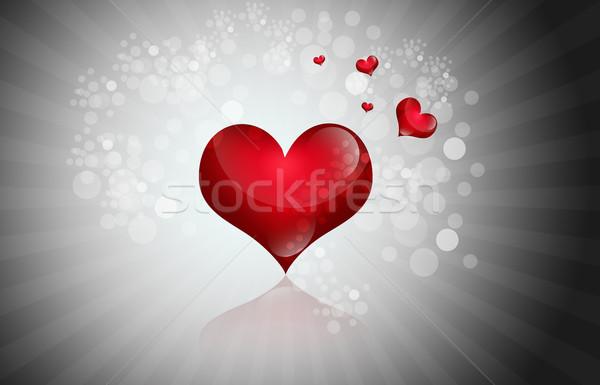 Walentynki serca ślub miłości projektu sylwetka Zdjęcia stock © bluebay